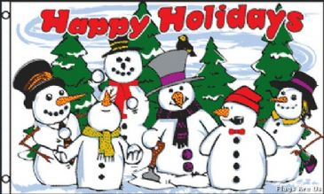 Happy Holidays Snowmen